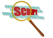 Symbol of inspect scripts. It is symbol of inspect scripts.This is theme of software Royalty Free Stock Images