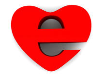 Symbol of internet as heart Stock Images