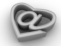 Symbol of internet as heart Stock Image