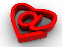 Symbol of internet as heart Stock Photo
