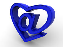 Symbol of internet as heart Royalty Free Stock Photo