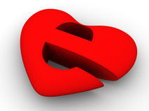 Symbol of internet as heart. 3d. Very beautiful three-dimensional illustration, figure Stock Photography