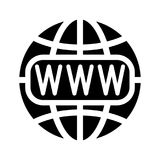 Symbol of the Internet and globe. Vector illustration Stock Photos