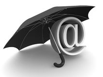 Symbol of internet. umbrella Royalty Free Stock Photos
