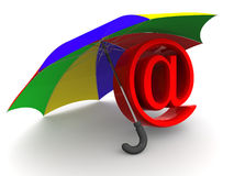 Symbol of internet. umbrella Stock Photo