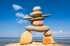 Symbol of Inukshuk Stock Photos