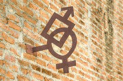 Symbol iron of male and female Stock Images