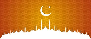 Symbol of Islam and mosque, ramadan. Vector. Stock Image