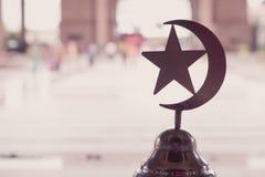 Symbol islam w meczecie, rocznika filtr Obrazy Stock