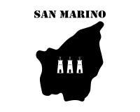 Symbol of Isle of San Marino and map Royalty Free Stock Photography