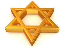 Symbol of Israel. 3d Very beautiful three-dimensional illustration Royalty Free Stock Photography