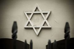 Symbol of Jewish star. Royalty Free Stock Photography