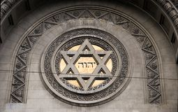 Symbol judaism. Picture taken in Bueno Aires Stock Images