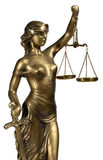 Symbol of justice. Bronze figurine - a symbol of justice Royalty Free Stock Image