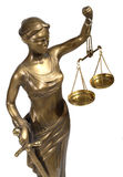 Symbol of justice. Bronze figurine - a symbol of justice Stock Images