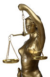 Symbol of justice. Bronze figurine - a symbol of justice Stock Image