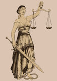Symbol of justice Femida Stock Photos