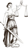 Symbol of justice Femida Stock Photo