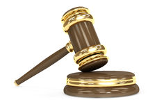 Symbol of justice - judicial 3d gavel Stock Images