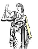 Symbol .lady justice. Themis.Equality .A fair trial.Law. Stock Photography