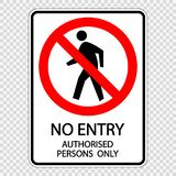 Symbol kein Eintritt berechtigte nur Personen Zeichenaufklebervektor auf transparentem Hintergrund lizenzfreie abbildung