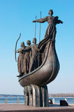 Symbol of Kiev - Kyi, Khoriv, Sheck and sister Lybid Royalty Free Stock Images