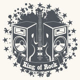 Symbol king of rock Royalty Free Stock Photos