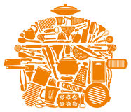 Symbol of kitchen ware Stock Image