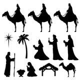 Symbol-kloka män för julKristi födelse royaltyfri illustrationer