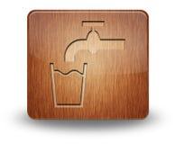 Symbol knapp, Pictogramrinnande vatten arkivbilder