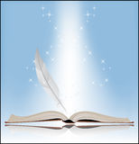 Symbol of Knowledge. Book on a blue background. Symbol of Knowledge Stock Images