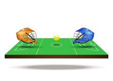 Symbol of lacrosse game on field Stock Photography