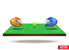 Symbol of lacrosse game on field Stock Image