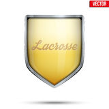 Symbol of Lacrosse label Royalty Free Stock Image
