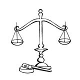 Symbol of law and justice. Royalty Free Stock Images