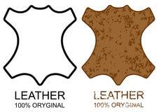 Symbol 100% Leather Product  sign icon grunge Royalty Free Stock Photo