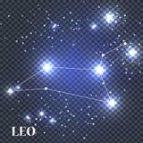 Symbol Leo Zodiac Sign Auch im corel abgehobenen Betrag Lizenzfreie Stockbilder