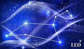 Symbol Leo Zodiac Sign Auch im corel abgehobenen Betrag Lizenzfreie Stockfotos