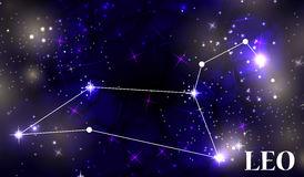 Symbol Leo Zodiac Sign Auch im corel abgehobenen Betrag Stockbild