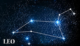 Symbol Leo Zodiac Sign Auch im corel abgehobenen Betrag Stockbilder