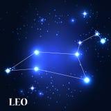 Symbol. Leo Zodiac Sign. Vector Illustration Stock Images