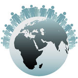 Symbol-Leute als Bevölkerung der Erde vektor abbildung
