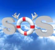 symbol lifebuoy sos stock illustrationer