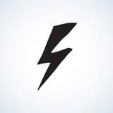 Symbol of lightning. Vector illustration Stock Photography