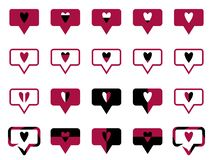 Symbol likes red royalty free illustration