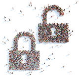 Symbol of locks. Stock Image
