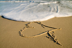 Symbol of love. Royalty Free Stock Images