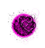 Symbol of love. Symbol of love in black and pink style Royalty Free Stock Photos