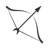 Symbol love bow arrow icon. Vector illustration eps 10 Stock Images