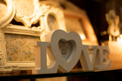Symbol of Love. A symbol of love in decoration windows Stock Photography